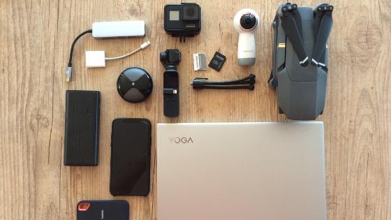 cameras fotograficas e equipamentos de viagem