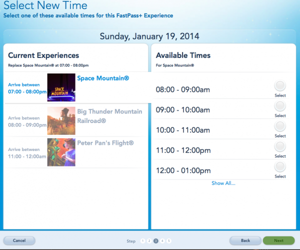 fastpass plus screen e1409165480589 - Disney Fast Pass - Guia Completo