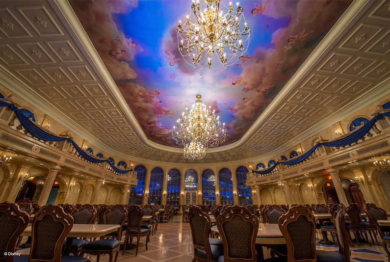 restaurante bela e a fera - Nova Fantasy Land - Novidades no Magic Kingdom