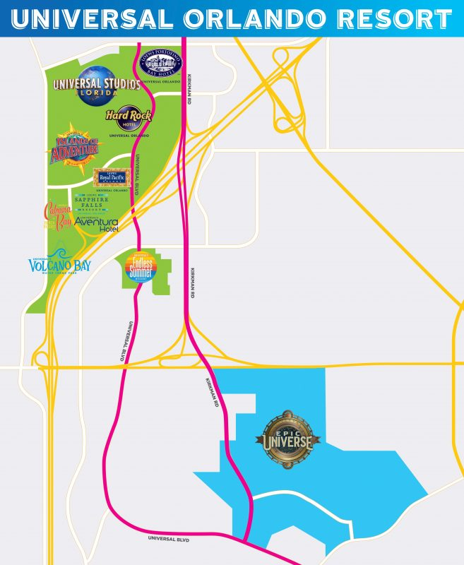Universals Epic Universe map - EPIC UNIVERSE - Novo parque da Universal Orlando
