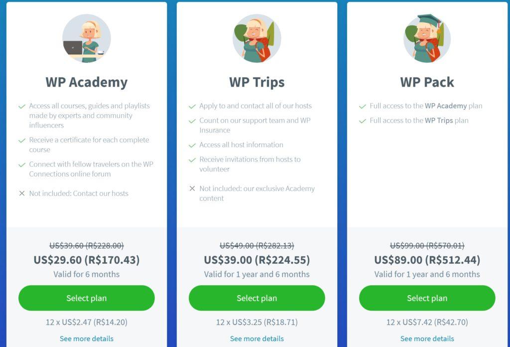 PRECOS WP 1024x696 - Worldpackers - Tudo que você precisa saber + (cupom U$10,00)