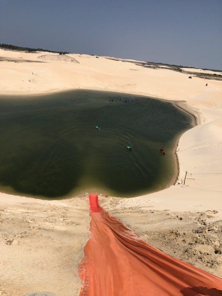 pista de escorregar nas dunas de jeriquaquara