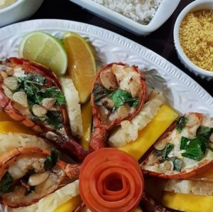 prato de lagosta