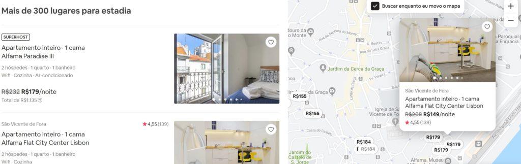 mapa airbnb 1024x323 - Airbnb - segredos para conseguir desconto em sua hospedagem + Cupom Ativo