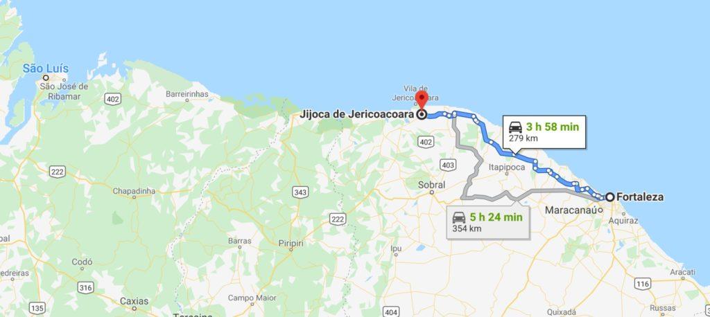 mapa de jeriquaquara no ceará