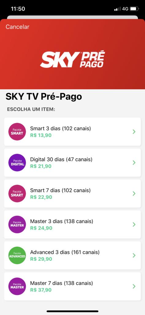 sky prepago picpay 473x1024 - Cupom PicPay: R$10,00 + Cash Back + Milhas