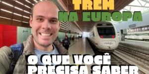 viajar de trem ou avião pela europa