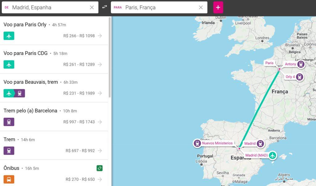 como funciona rome2rio 1024x602 - Ônibus na Europa: Flixbus e todas cias de ônibus low cost